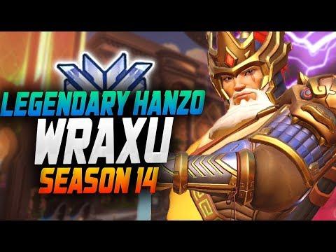 Wraxu INANSE HANZO! 45 ELIMS! [ OVERWATCH SEASON 14 TOP 500 ] thumbnail