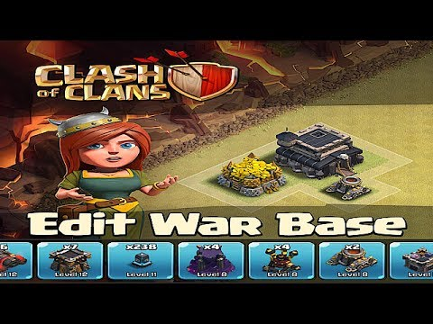 Clash of clans - War Edit Mode (save your base layout)