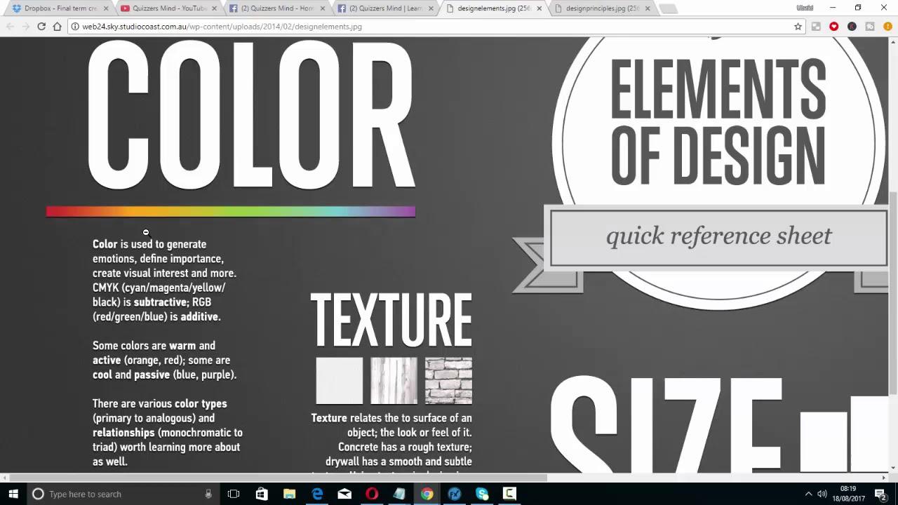 Define Elements Of Design : Elements of design graphic full course in urdu hindi