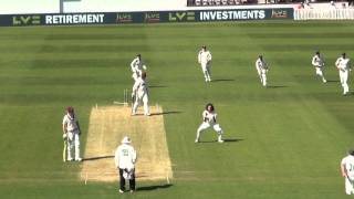 Marcus Trescothick bowled emphatically by Ryan Sidebottom
