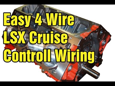 Simple LSX Cruise Control Wiring - Hobby Fix - YouTube