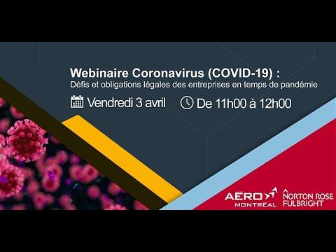 Webinaire COVID-19 : Défis et obligations légales des entreprises en temps de pandémie