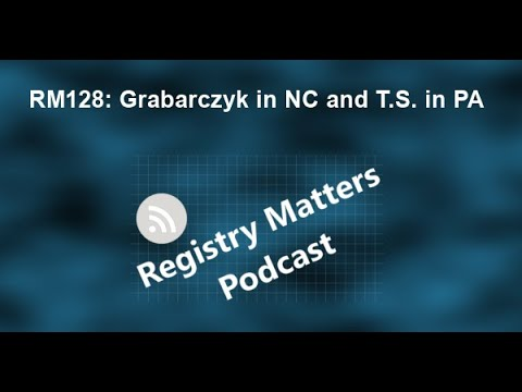 RM128: Grabarczyk In NC And T.S. In PA