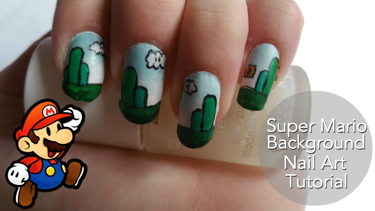 Easy Super Mario Nails - YouTube