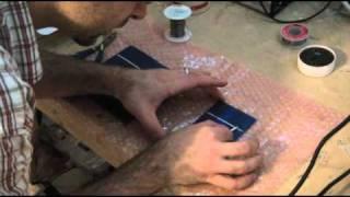 How to build a solar panel.  DIY Solar cell tabbing & solar panel testing