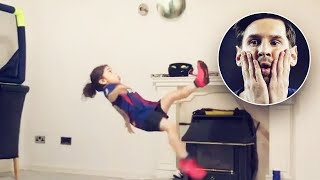 Leo Messiyi Etkileyen Küçük Kız - Geleceğin Futbol Yıldızı