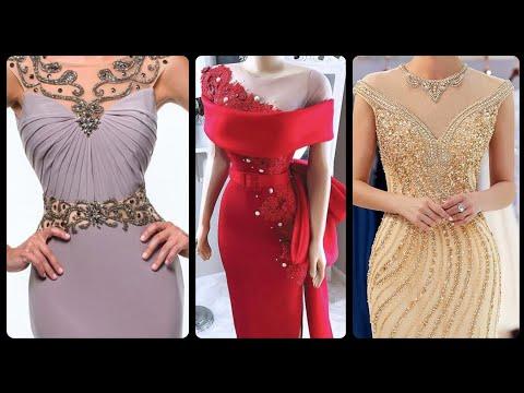 fashionable-wedding-dresses-elegant-bateau-neckline-mermaid-evening-dresses-for-bride's-mother