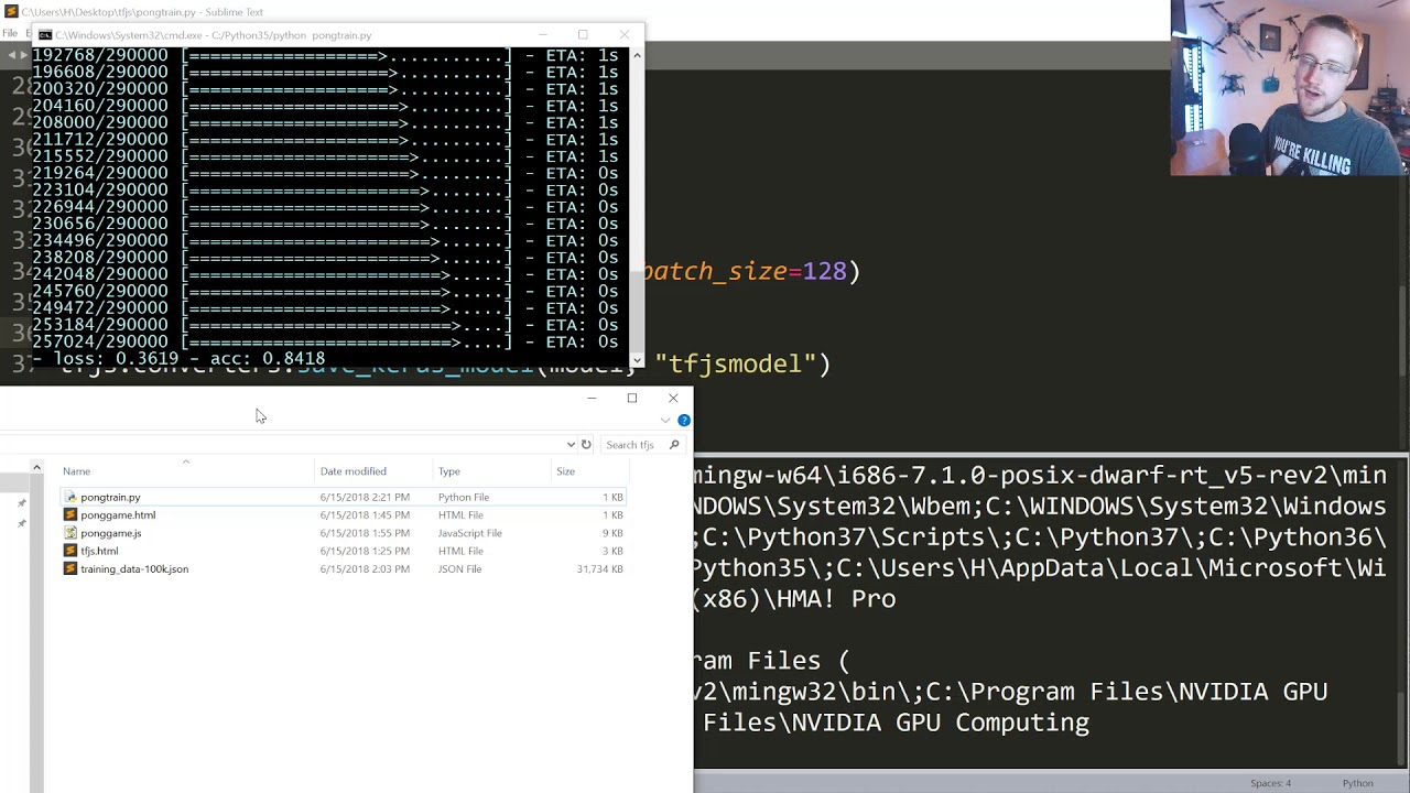 Training model in Python and Loading into TensorFlow js - TensorFlow js p 4