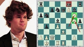 Magnus Carlsen Beats A Strong Grandmaster With Ease