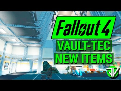 FALLOUT 4: New VAULT-TEC WORKSHOP DLC New Items Overview! (Vault Building, Decorations, and More!)