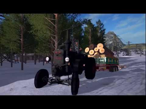 LS17 Lanz Bulldog / Ursus C-45 Holztransport (100% sound) + Download