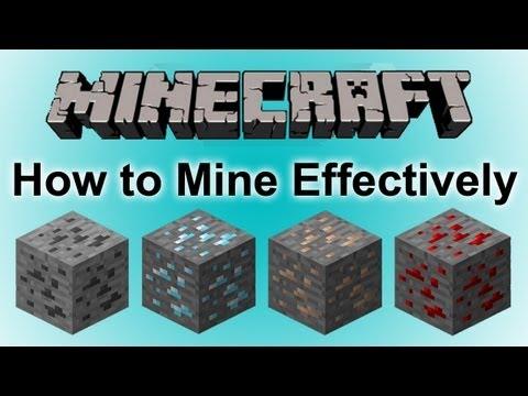 Minecraft: How To Mine Effectively [Diamonds, Iron, Coal Etc]