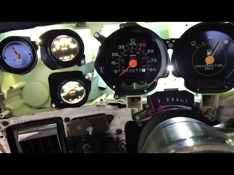 White Gauge & LED 73-87 Chevy C10