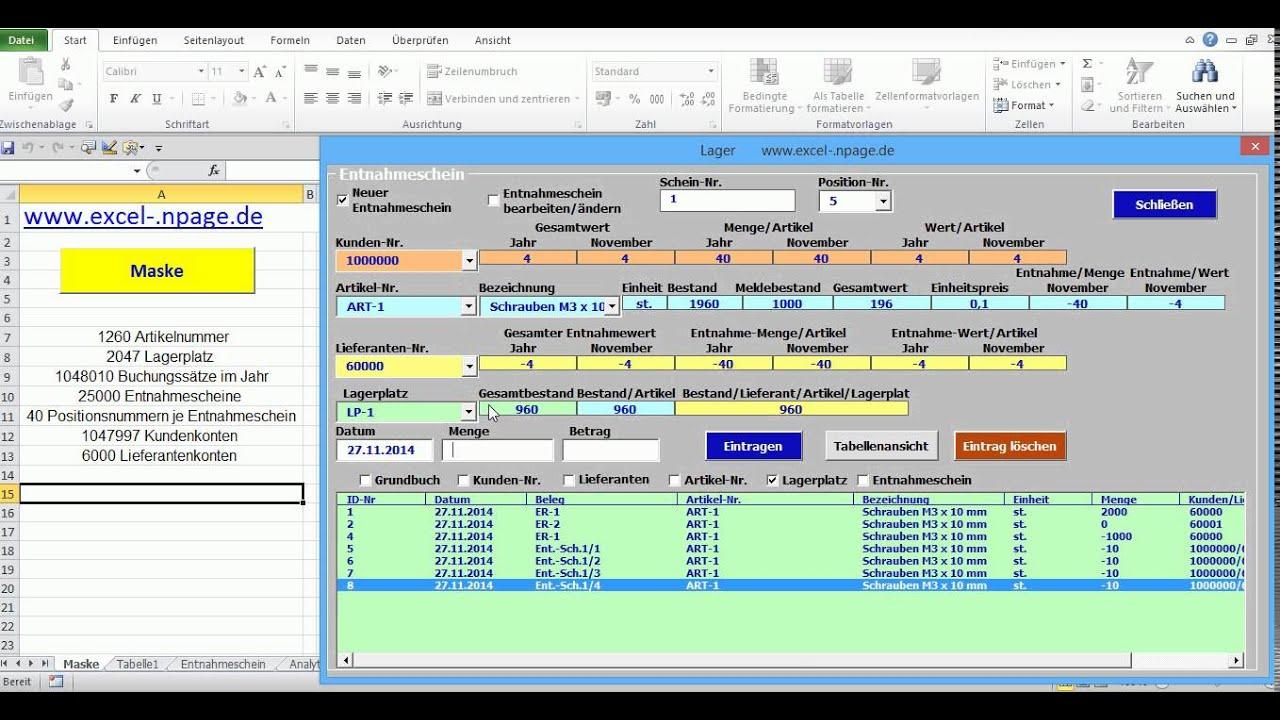 1_Lagerverwaltungsprogramm auf Basis einer Excel - Datei mit ...