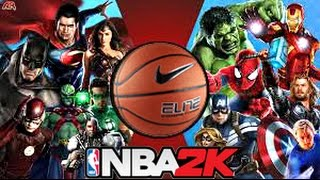 Avengers Vs Justice League Dunk Contest in NBA 2K ! Civil War 2016 HD