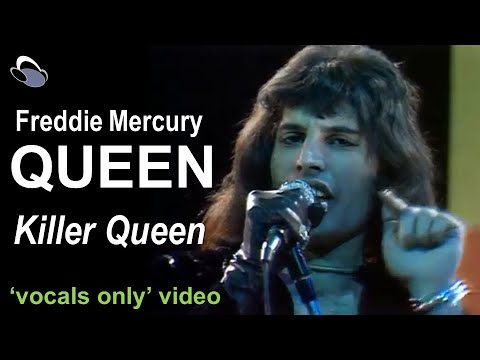 Queen - Killer Queen (vocals only!) + guitar mix