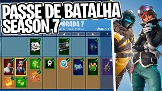 SEASON 7 BATTLE PASS! SKINS, CAMOUFLAGES, ETC! IS IT WORTHWHILE? -Fortnite, the