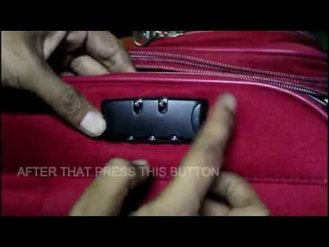 How To Set The Lock Code On American Tourister Bags