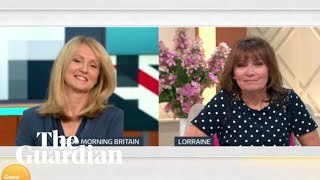Lorraine and Esther McVey share an awkward TV moment