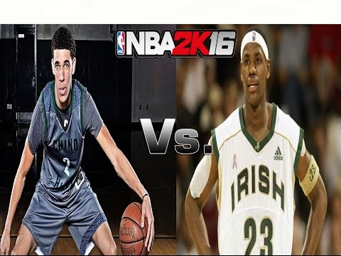 Can The Ball Brothers Beat Lebron James? | Chino Hills Vs. St. Vincent St. Mary | NBA 2K16