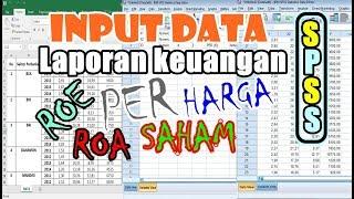 Cara Memasukkan Data Laporan Keuangan (Data Sekunder) di SPSS