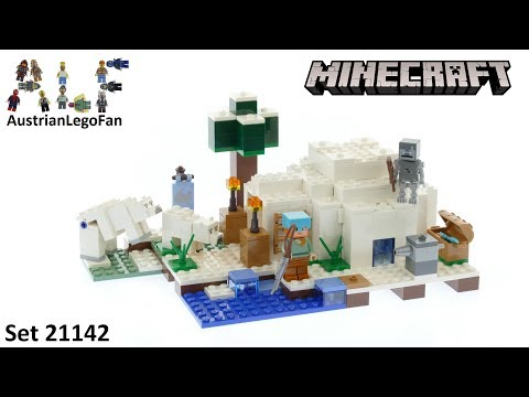 Lego Minecraft 21142 The Polar Igloo - Lego Speed Build Review