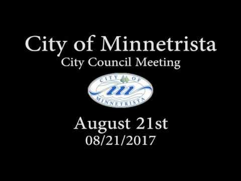 2017.08.21 Minnetrista City Council Meeting