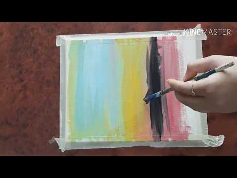 See before making a painting|smooth blending acrylic painting |for beginners