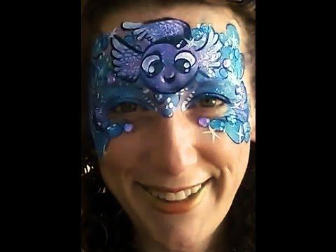 rainbow fish face paint design