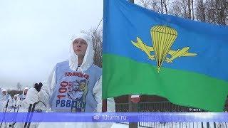 В Саранске встретили участников лыжного марш-броска