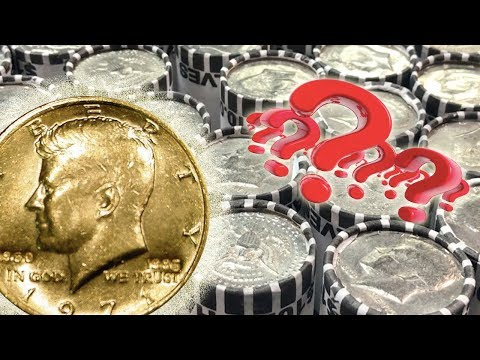 STRANGE GOLD PLATED COIN FOUND Half Dollar Coin Roll Hunting