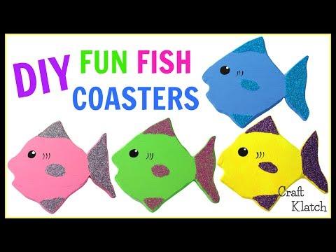 Fun Glitter Fish Coasters DIY ~ Another Coaster Friday ~ Craft Klatch