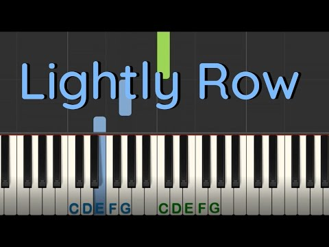 Easy Piano Tutorial: Lightly Row with free printable PDF sheet music