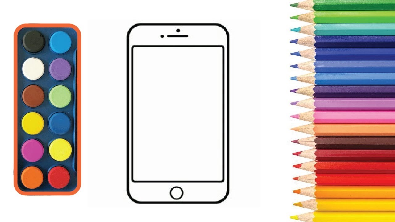 iphone coloring page and drawing for kids - HT Draw Color ...