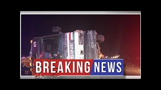 Three People Were Killed And 24 Others Were Injured In An Interstate Bus Crash