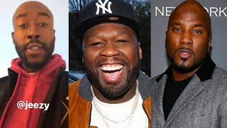 "50 Cent & Freddie Gibbs Respond To Jeezy Diss Track... ""Ur Sh*t Is Trash & BMF Put U In A Head Lock"""