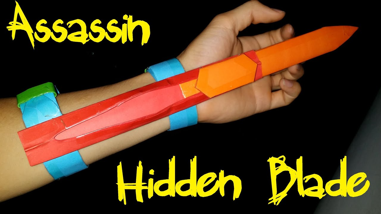 how to make assassins creed hidden blade with paper