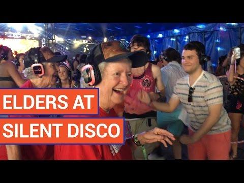 Cute Senior Citizens Dance at Silent Disco Video 2016 | Daily Heart Beat