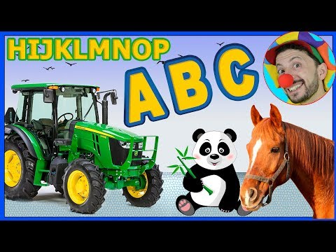 Construction vehicles Tractor learning ABC from H to P