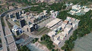 Zabudowy przy dworcu i linie autobusowe - Cities: Skylines S07E112