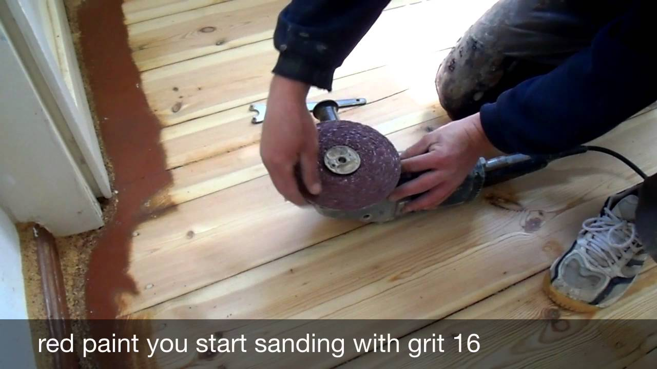 Sanding Floorboards With The Edge