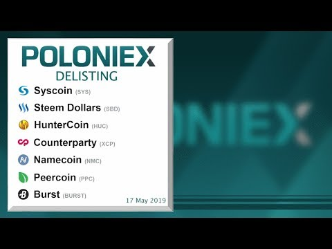 Poloniex Delists 7 Historic Cryptocurrencies