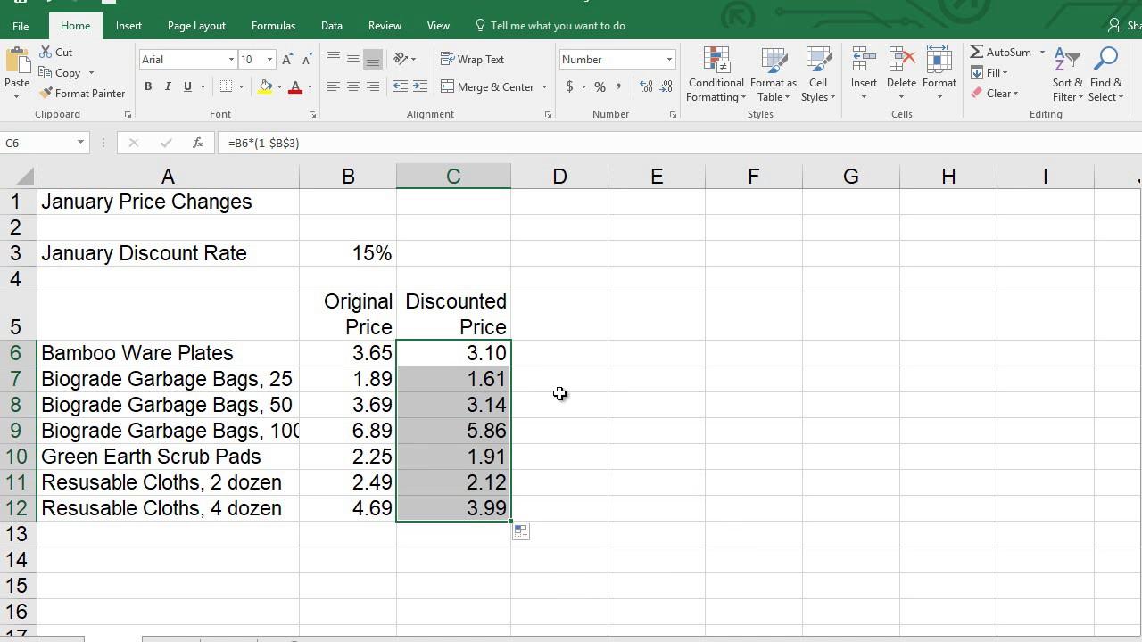 Excel 20 Formulas Practice