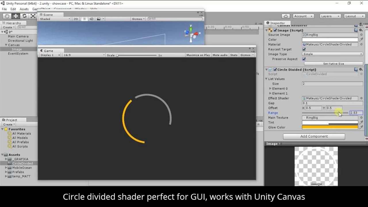 Circle divided shader - UNITY 3D