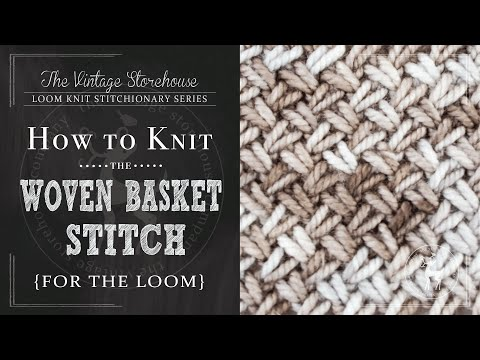 How to Knit the Woven Basket Stitch {For the Loom}