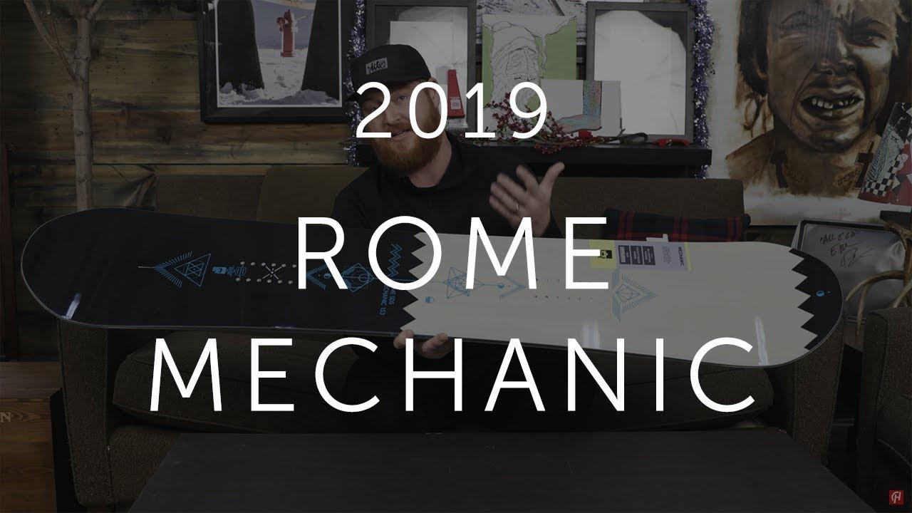 027e08dd22 2019 Rome Mechanic Snowboard Review - YouTube