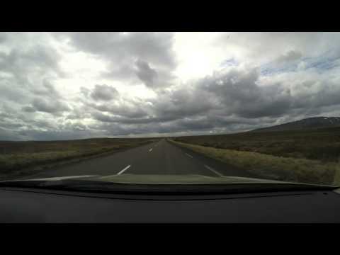 GoPro driving time-lapse from Akureyri to Reykjavik in Iceland