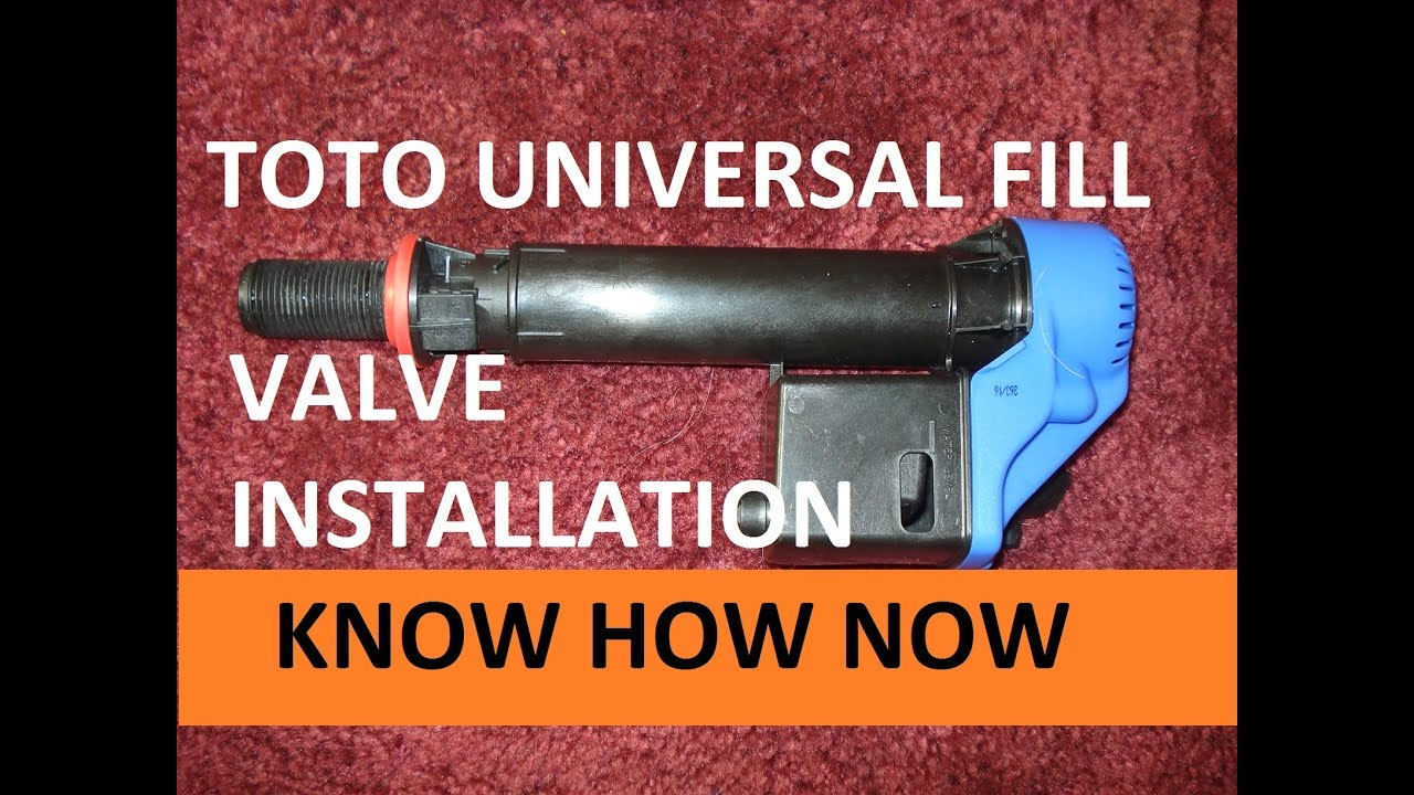 How to Replace a Toto Universal Fill Valve - YouTube
