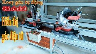 Máy cắt nhôm 2 đầu tự chế xoay góc tự động lưỡi 305 makita xịn