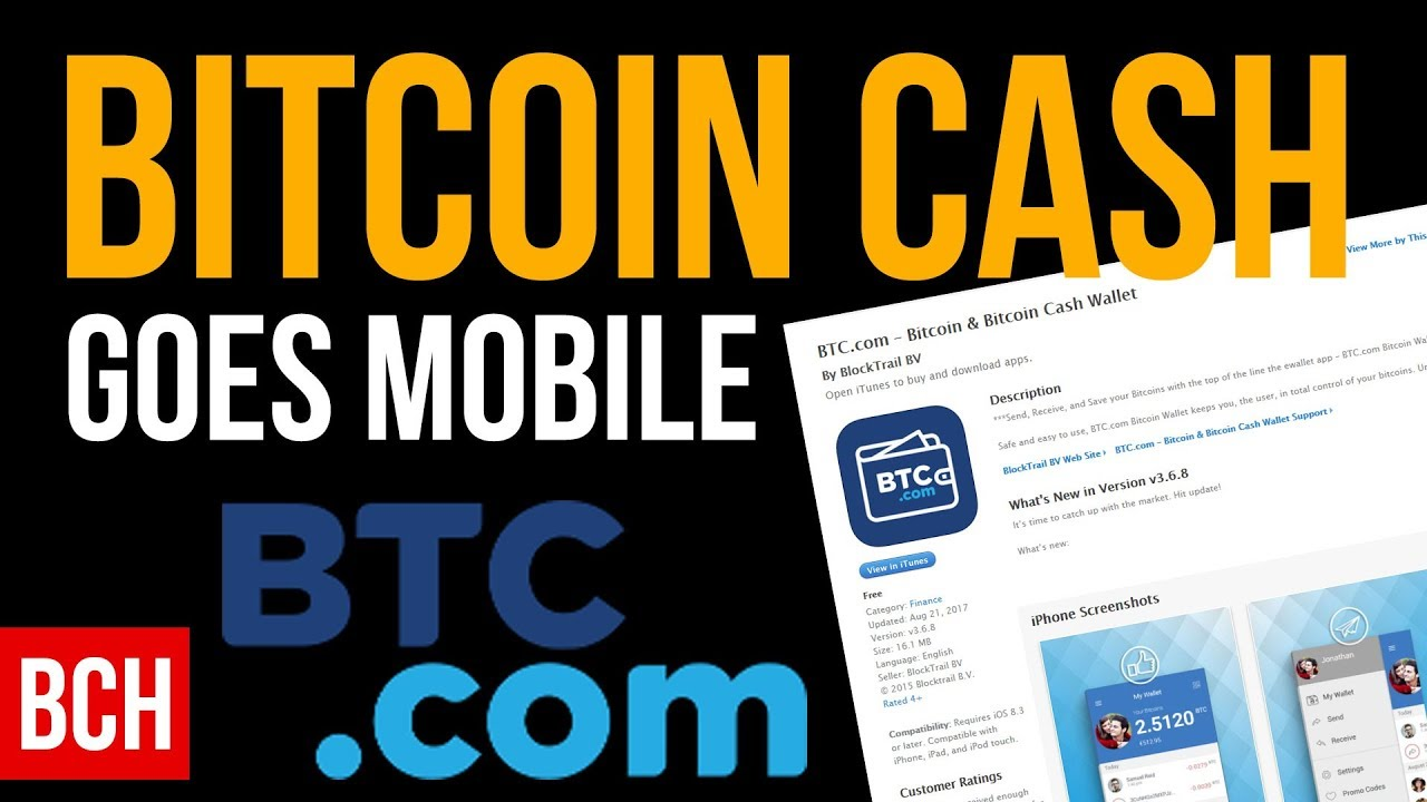Bitcoin cash goes mobile app wallet for ios and android youtube bitcoin cash goes mobile app wallet for ios and android ccuart Gallery